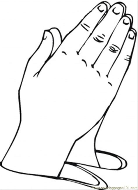 hands coloring page free printable praying hands coloring home