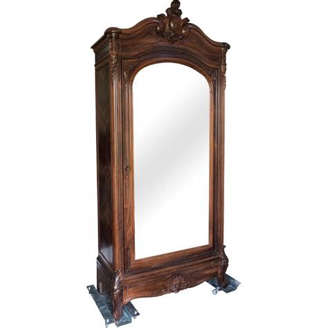 louis xv style rosewood armoire birdseye maple paris
