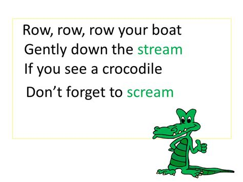 row row your boat gently down the stream row row row your boat ppt video online download