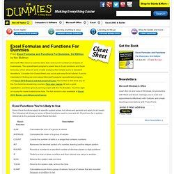 Spreadsheet Formulas For Dummies by Computer Help Christopherrichard Pearltrees