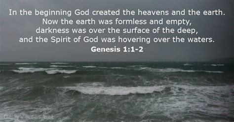 genesis chapter 1 4 genesis 1 1 2 bible verse of the day dailyverses net