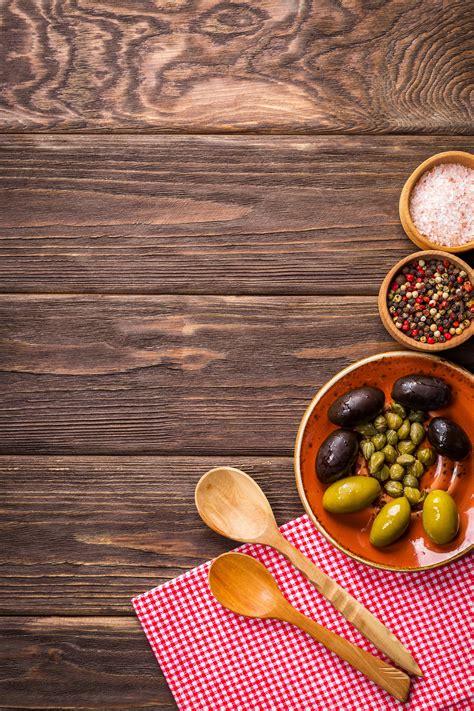 gambar latar belakang makanan lezat zaitun