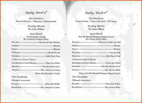templates for church programs 7 church anniversary program templatememo templates word