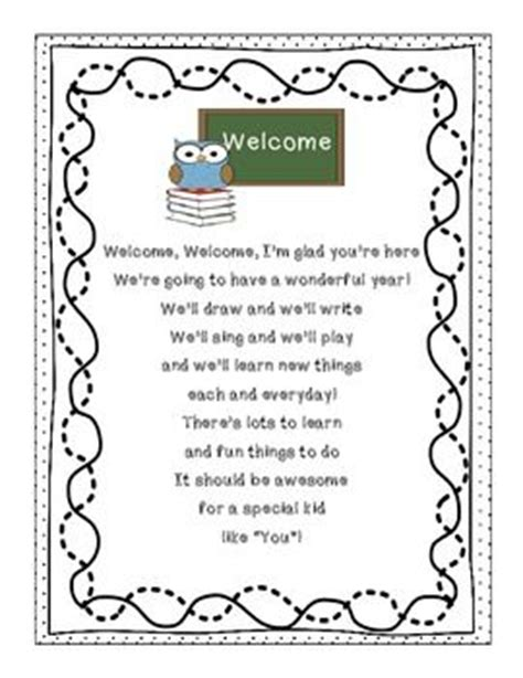 preschool welcome letter to parents from template 17 best ideas about student welcome letters on