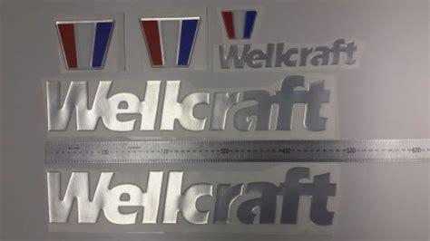 wellcraft boat emblems purchase wellcraft boat emblem 19 quot stickers set adesivi