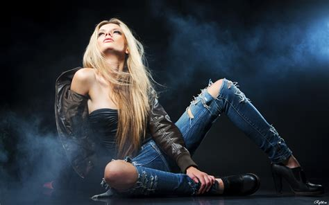 creative wallpaper girl jeans jeans long hair glamorous wallpapers and images