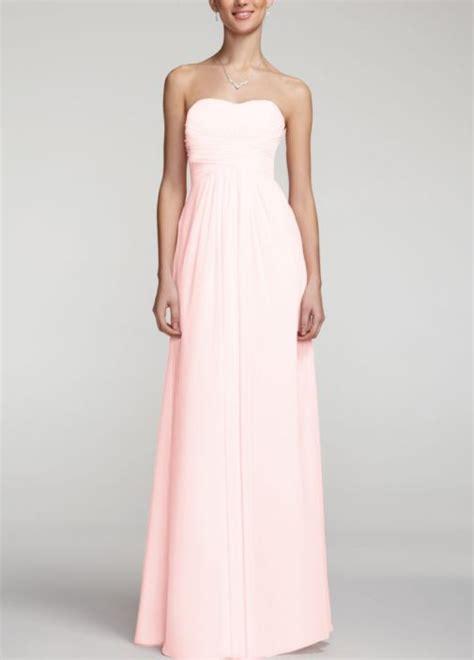 petal colored bridesmaid dresses bridesmaid dress david s bridal style f15555 in petal