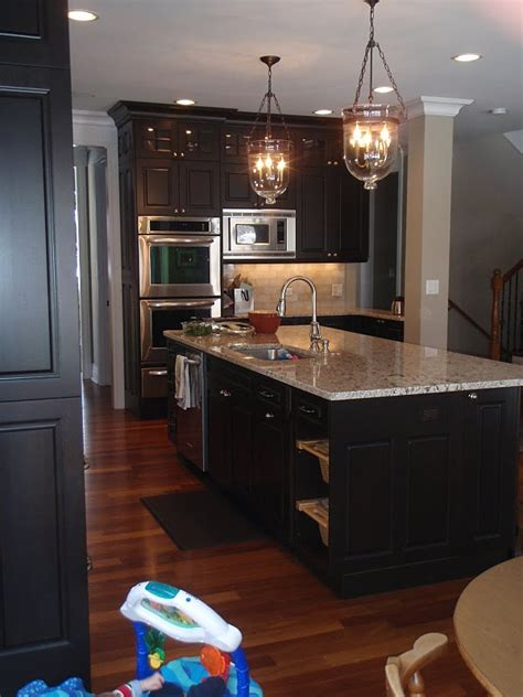 dark espresso kitchen cabinets espresso cabinets with light granite for kitchen remodel