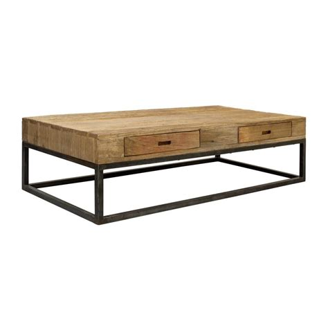 table basse table basse rectangulaire 4 tiroirs naturel interior s