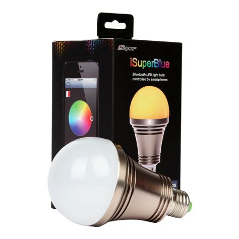 Light Bulb Controlled By Phone by Isuper Iphone Android Phone Bluetooth Controlled Color
