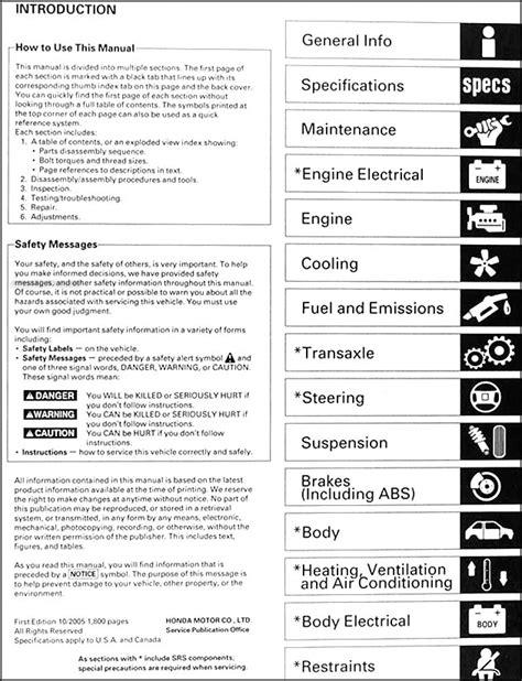 free car repair manuals 2006 honda element parental controls 2003 2006 honda element repair shop manual original