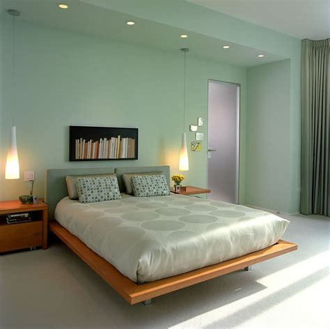 chic  serene green bedroom ideas