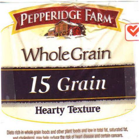 whole grain 15 grain bread pepperidge farm whole grain bread 15 grain reviews