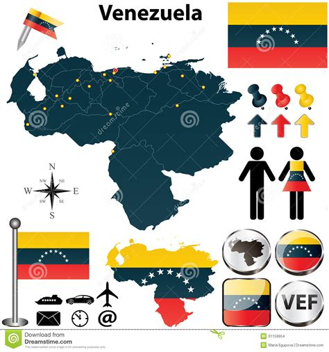 venezuelan id template map of stock images image 31159954