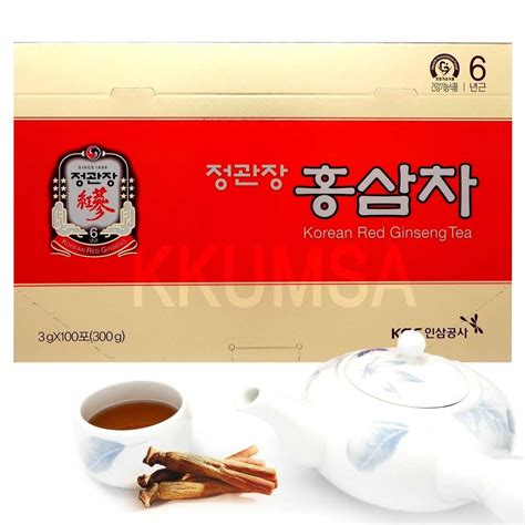 Korean Ginseng Tea cheong kwan jang korean ginseng tea 3g x 100 bags