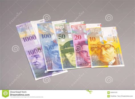currency chf swiss francs currency of switzerland stock photo image