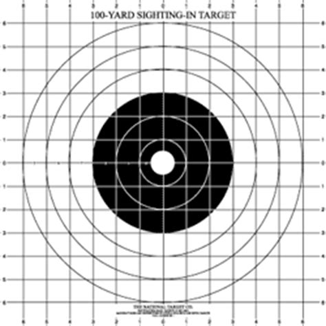 printable targets for zeroing in a gun sighting targets