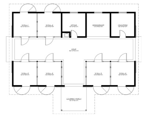 barn layouts plans build a barn the heartland 6 stall horse barn plans for