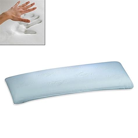 memory foam pillow bed bath beyond buy dreur elite memory foam body pillow from bed bath