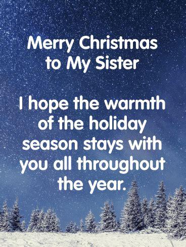 christmas cards  sister birthday greeting cards  davia  ecards