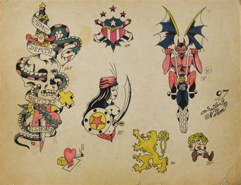 1940s tattoo designs vintage 1940 s original flash by sailor norm 2