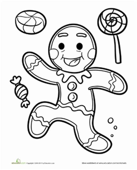 gingerbread man worksheet education com
