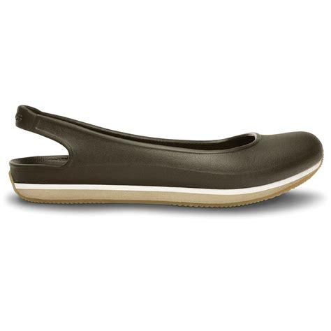 flat slingback shoes crocs retro slingback flat espresso chai sling back 70 s