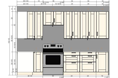 Dimensions Of Kitchen Cabinets Kitchen Cabinets Sizes Quicua