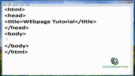 how to make a page how to make an simple blank html webpage with notepad