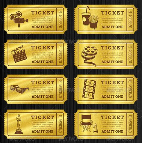 36 Editable Blank Ticket Template Examples for Event : Thogati