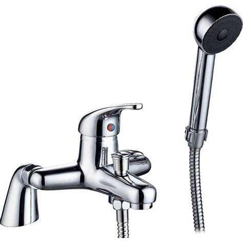Bathroom Mixer Taps With Shower Single Lever Chrome Bathroom Bath Mixer Tap With Shower Attachment Aero 4b Ebay