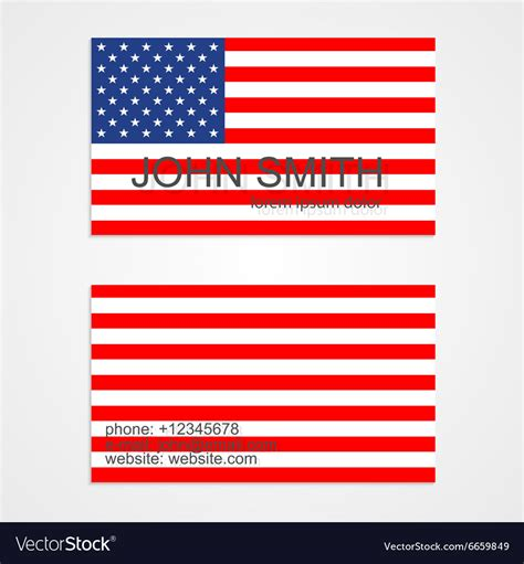 American Flag Business Card Templates Free by American Flag Business Card Template Royalty Free Vector