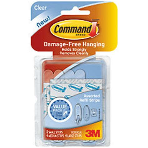 3m command assorted strips walmart com 3m command replacement mounting strips assorted sizes