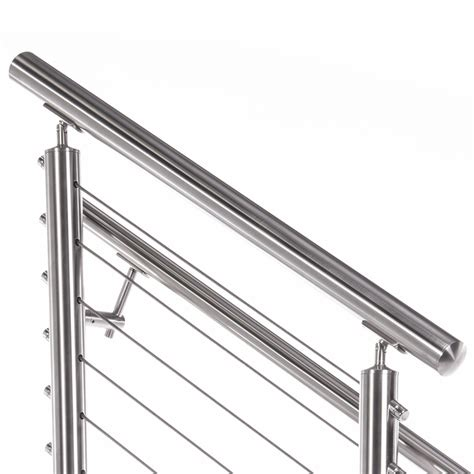 stainless steel banister rail 2 quot round top rail for 2 quot round stainless steel railing system