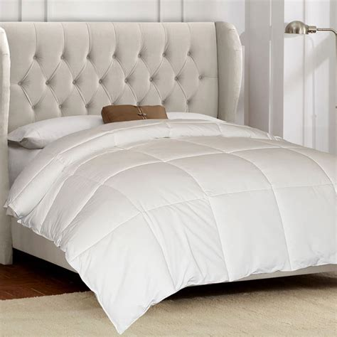 100 Cotton White Goose Down And Feather Comforter