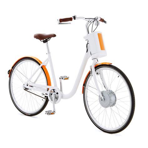 automercato fiori askoll bici bianca arancio 02 veicoli elettrici