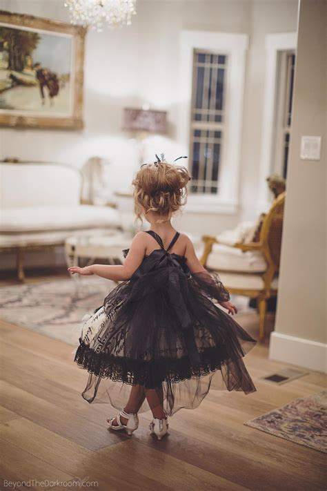 fancy couture girls feather dress