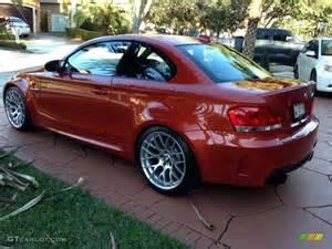 2011 valencia orange metallic bmw 1 series m coupe