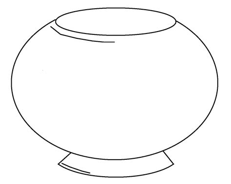 fish bowl colouring pages
