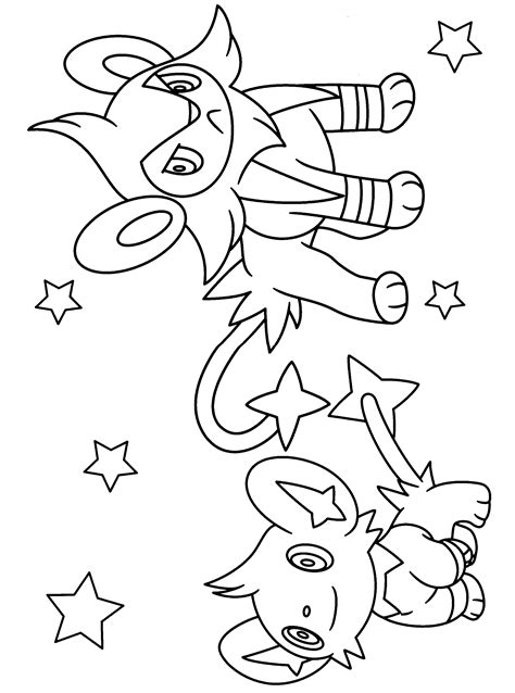 evolution of shinx pokemon coloring pages coloring pages