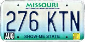 Missouri Vanity Plates by The Caps Are Melting Only Government