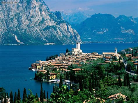 buildings city lake garda malcesine italy picture nr