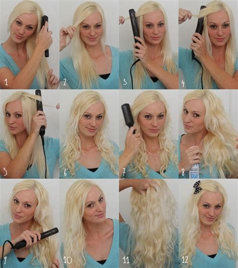 curl your hair with straighteners how to curl your hair with flat iron beauty zone