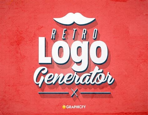 vintage design logo maker 3d retro logo generator graphicfy