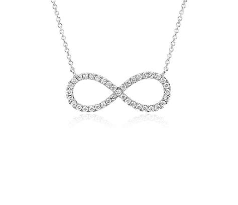 infinity and necklace infinity necklace in 14k white gold 1 2 ct tw