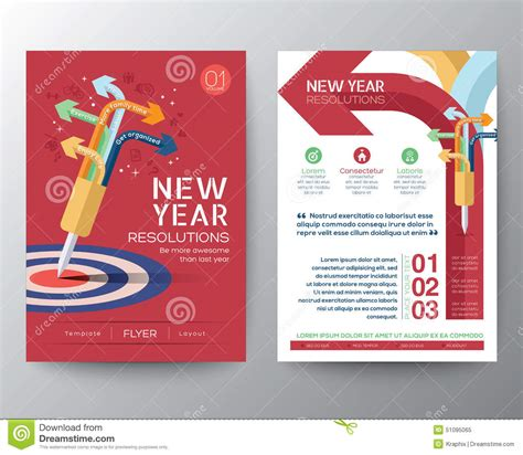 new year flyer design brochure flyer design layout vector template iwith new