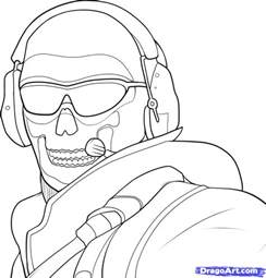 call of duty coloring pages how to draw mw2 ghost cover apps directories