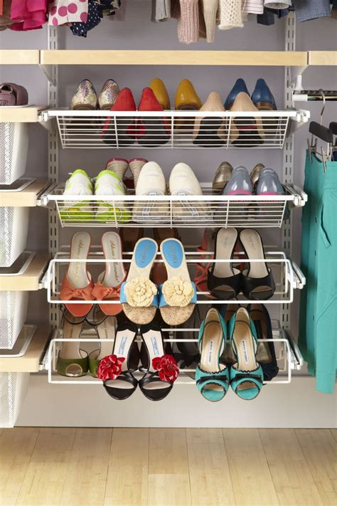 ways to organize shoes in closet elfa is great for organizing your shoes home