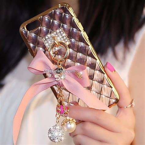 Soft Rhinestone Iphone 6 Plus 6s Plus bling bowknot soft tpu for iphone 6 plus 6s plus 5 5 inch chicleader