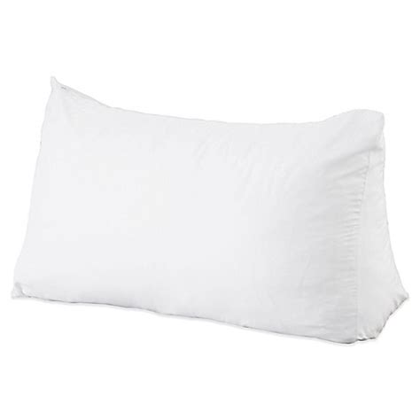 reading pillow for bed reading wedge pillow www bedbathandbeyond com